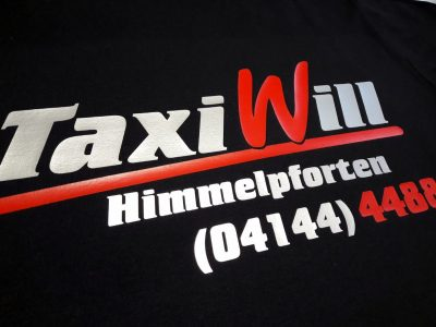 Schöne Berufskleidung für die Firma Taxi Will aus Himmelpforten