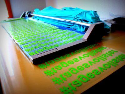 Vorbereitung für den Textildruck